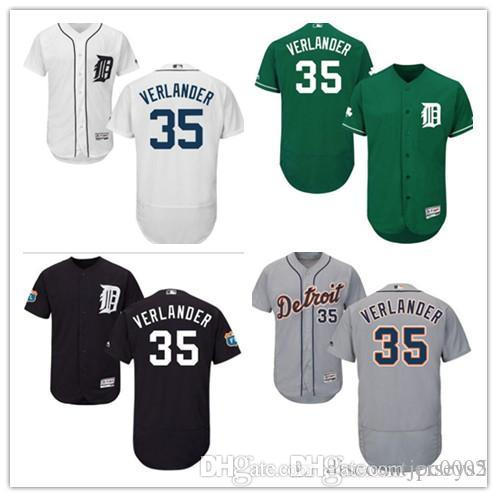 2019 Tigers Jays Jerseys #35 Verlander Jerseys men#WOMEN#YOUTH#Men's Baseball Jersey Majestic Stitched Professional sportswear