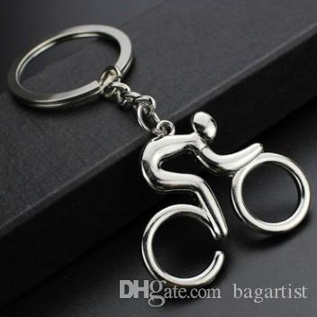 CUBIC BICYCLE RIDER BICYCLIST PENDANT KEYCHAIN KEYRING AWESOME KEY  ACCESSORIES KYECHAINS KEYRINGS FOR GIRDLE LEATHER BELT BAG CAR KEY Tritium  Keychain ... 4c62d6723