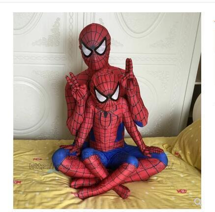 Red Black Spiderman Costume Spider Man Suit Spider-man Costumes Adults Children Kids Spider-man Cosplay Clothing Q190428