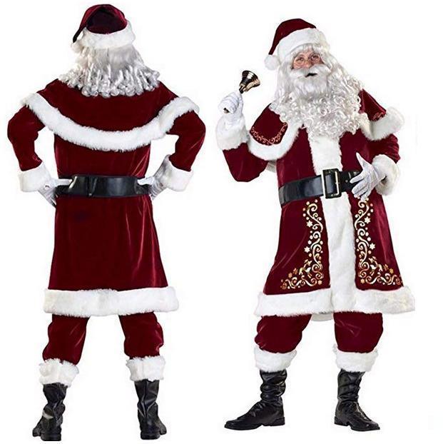 Santa Claus Suit Adult Christmas Costume Fancy Dress Fast Shipment