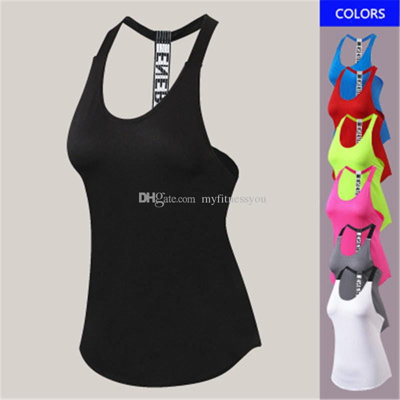 New Brand Yoga T shirt Tops Sportswear Women Running Vests for Fitness Training Outdoor Workout Clothes Girls Training Wear Plus Size XXL