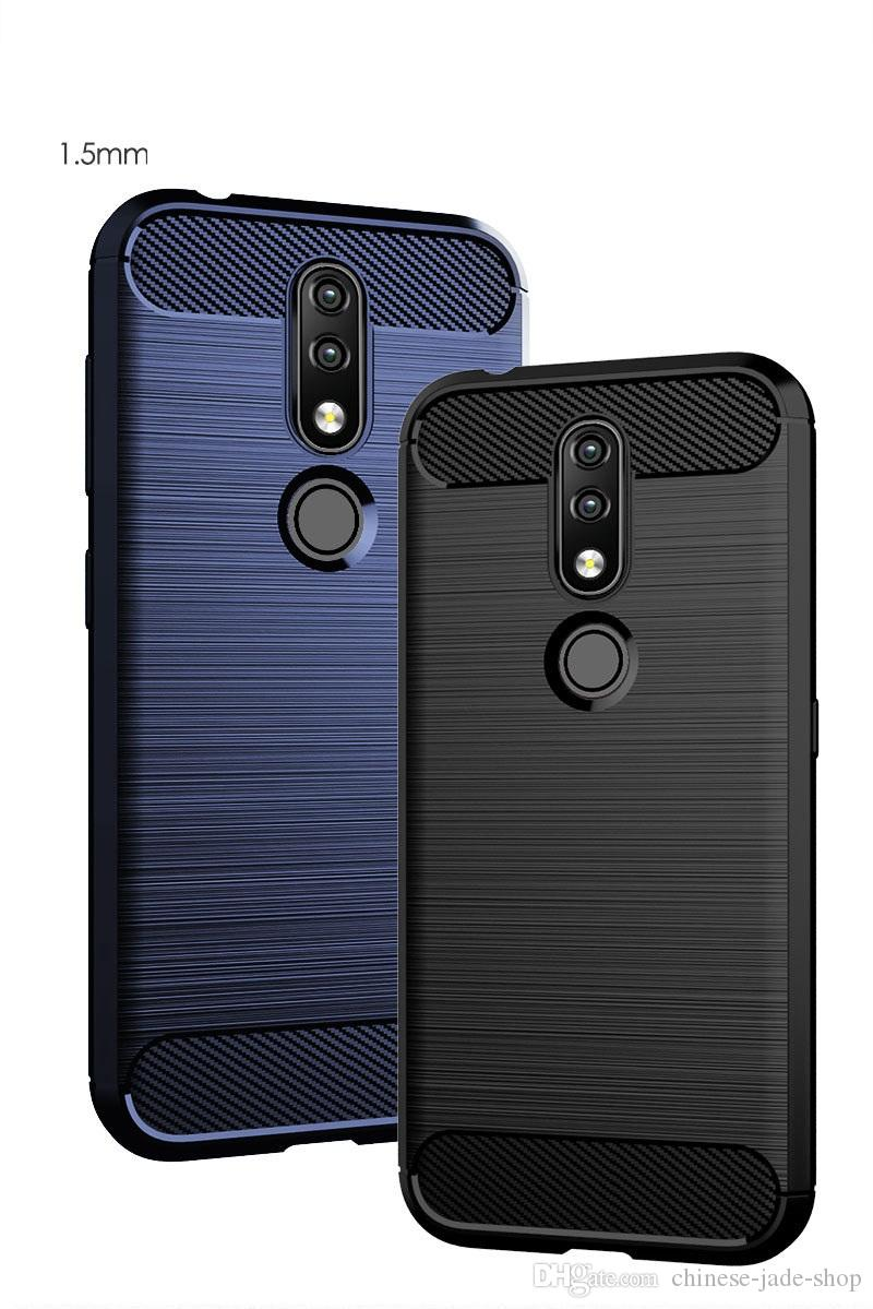 new product de8f4 cd872 Carbon Fiber Texture Slim Armor Brushed TPU CASE COVER FOR Nokia 4.2 1 plus  100pcs