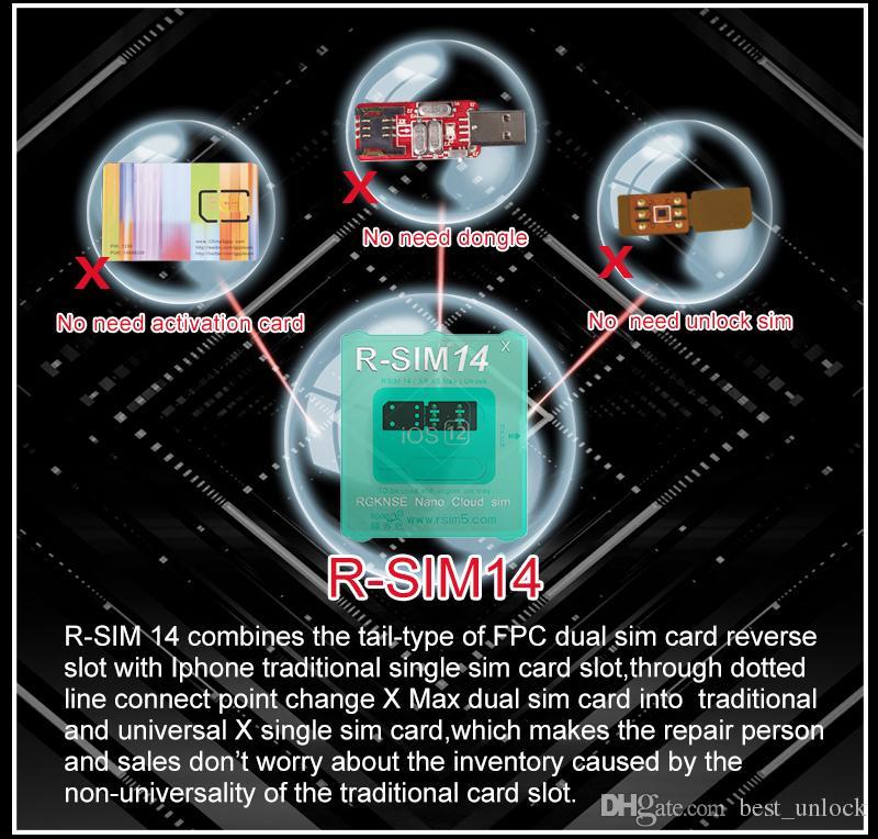 2019 best unlock chip max black r-sim 14 rsim14 perfect iccid unlock sim  card for iphonexs,xsmax,xr