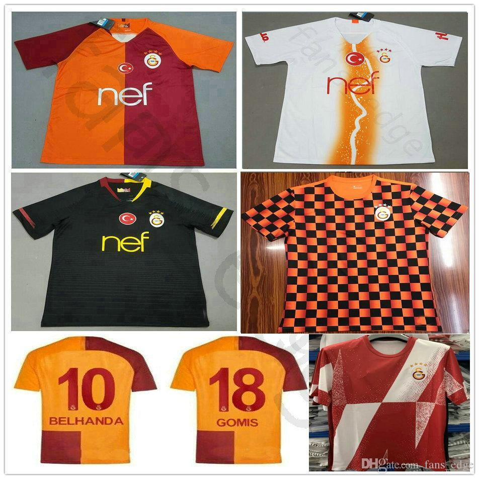 best service ab199 62048 2019 2020 Galatasaray Soccer Jersey GOMIS LINNES CIGERCI BELHANDA FERNANDO  FEGHOULI DONK Customize Home Away Third Football Training Shirt