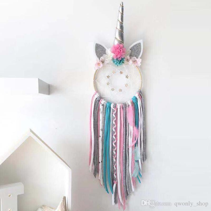 Acheter Decoration De La Maison Licorne Dream Catcher Fille Chambre