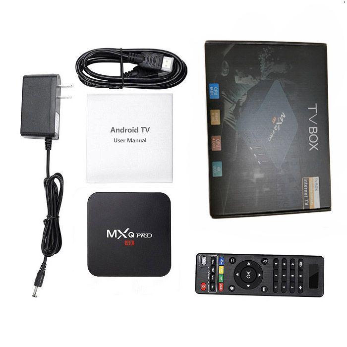 MXQ PRO Android TV Box Allwinner H3 Media Player 1GB 8GB Android 7 1 WIFI  Set Top Box