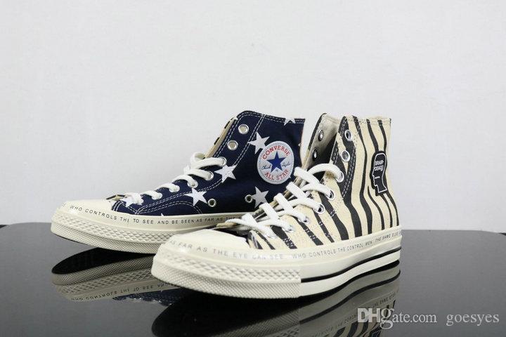 e540efb3c6d4d Acheter 2019 Converse All Stars Shoes White Nouvelle Toile Des Années 1970  Cerveau Mort Chaussures Blanc Camo Chaussures Chuck Zapatos Hommes Femmes  Casual ...