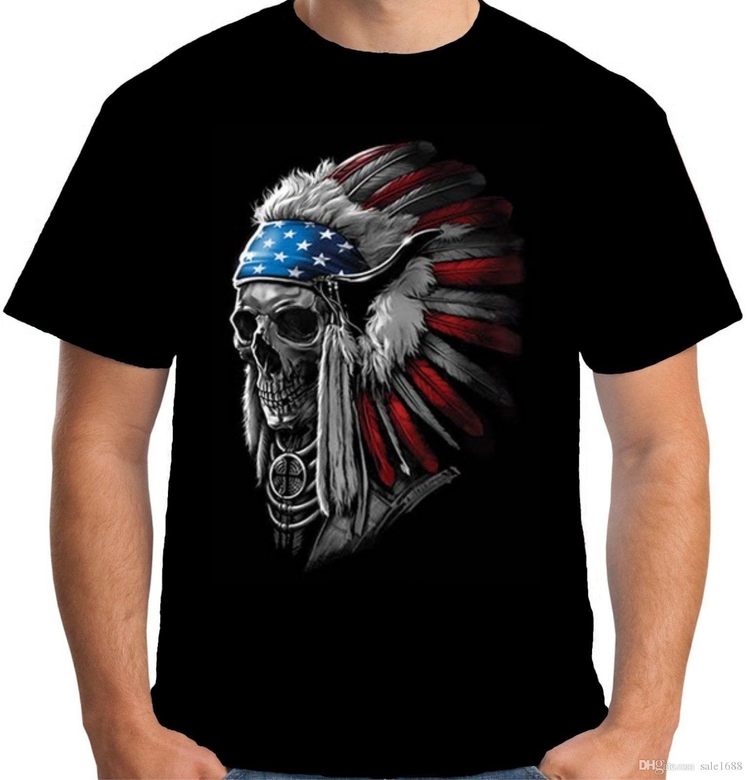 4a1fad25 Men T Shirt S Native American Indian Chief Skull T Shirt Funny T Shirt  Novelty Tshirt Women T Shirts For T Shirt For From Sale1688, $25.02|  DHgate.Com