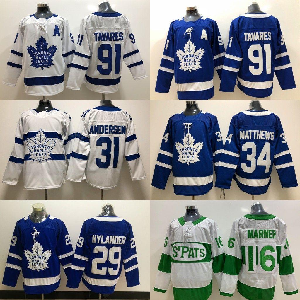 finest selection 70e79 ae609 44 Morgan Rielly Jersey Toronto Maple Leafs 16 Mitch Marner #91 JohnTavares  34 Auston Matthews 31 Frederik Andersen Hockey Jerseys