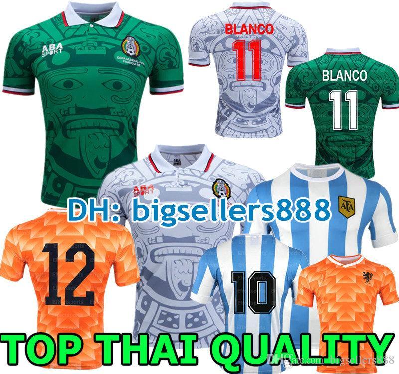 58c33a14172 2019 Retro 1998 Mexico Classic Vintage Soccer Jerseys Retro 1978 Argentina  Football Shirts 1988 Netherlands Retro MARADONA From Bigsellers888