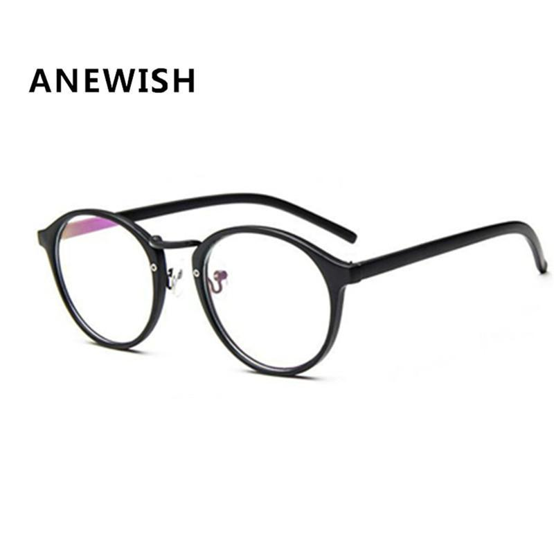 603d24be2cf 2019 ANEWISH Fashion Unisex Eyewear Vintage Glasses Frame Women Plain  Mirror Ultra Light Eyeglass Circle Non Mainstream Myopia  kb3 From Gaiming