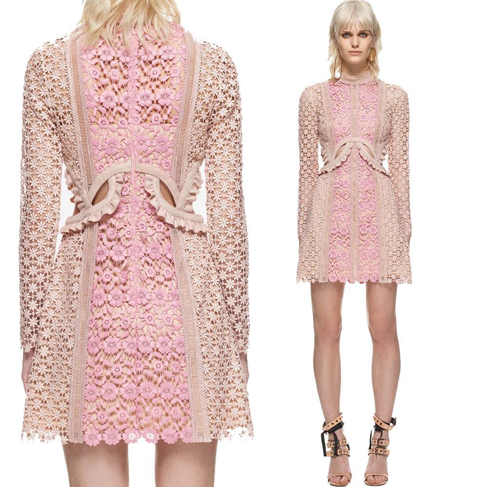 190c46a4a2443 Satın Al Yüksek Kalite 2019 Bahar Elbise Uzun Kollu Sevimli Pembe Nakış  Kadınlar Chic Elbise Mini Benzersiz Moda Parti Elbiseler, $75.38    DHgate.Com'da