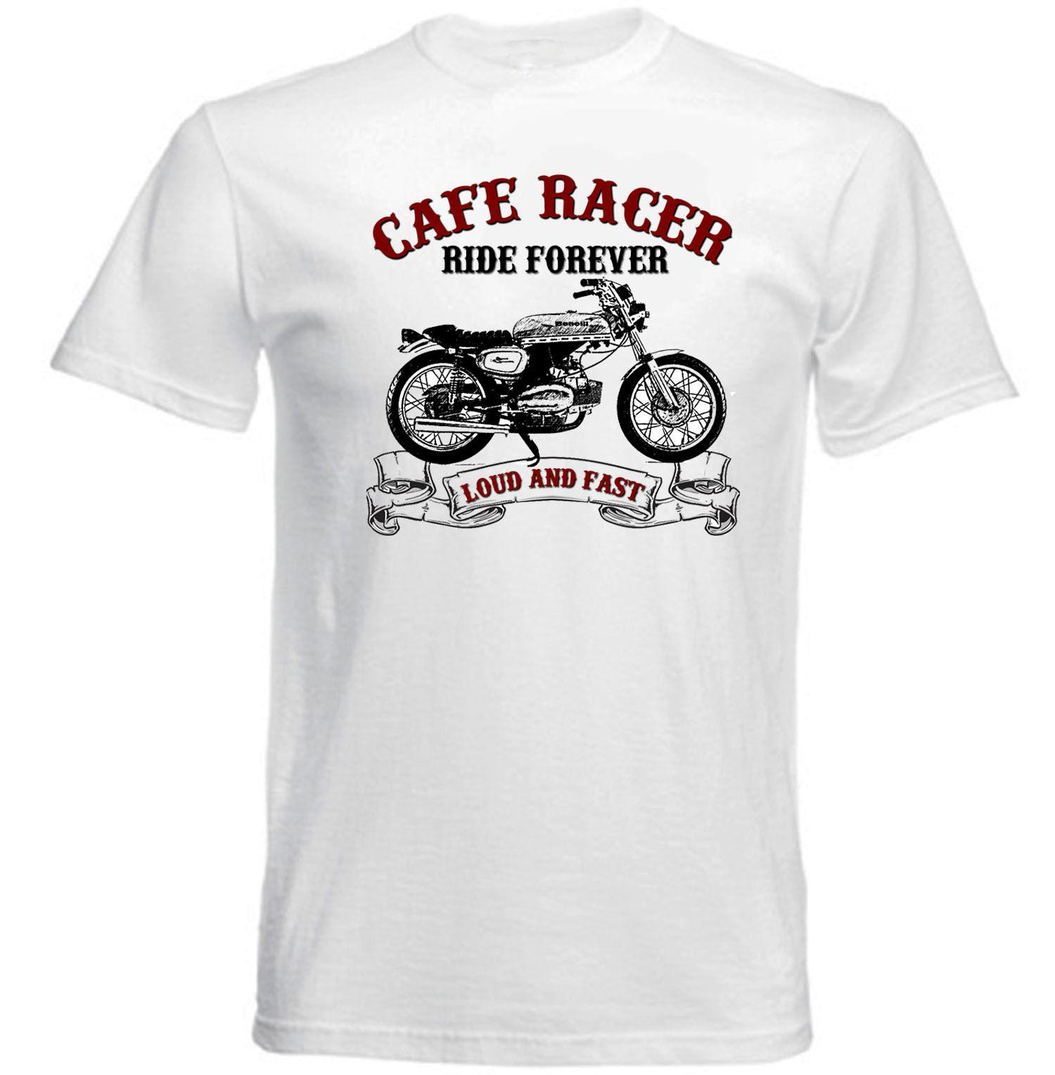 cebdd438bc1d Acquista VINTAGE ITALIAN MOTORCYCLE BENELLI CAFE RACER NUOVA T SHIRT IN  COTONE A  10.28 Dal Tshirtdoctor