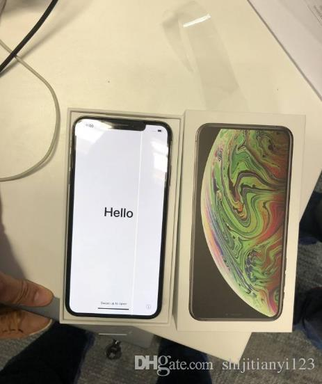 wholesale 6.5inch Goophone XS MAX Quad Core MTK6580 Android Smartphones 2G/4G Show Fake 4G/256G 4G lte Unlocked Phone with Sealed box