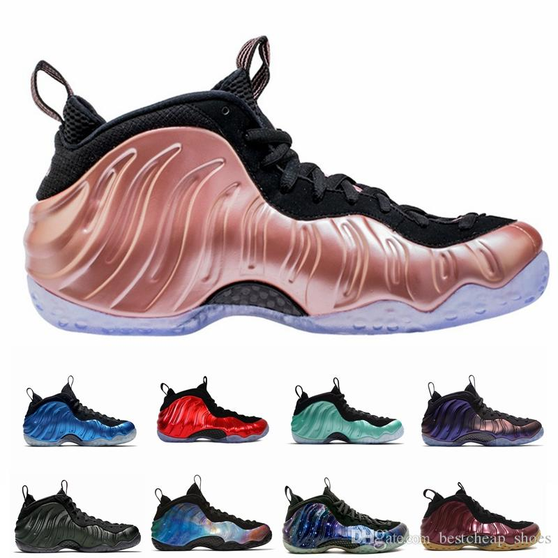 8022dbeecd0 2019 2018 New Mens Basketball Shoes Penny Hardaway For Men Sports Sneakers  Foam One Eggplant Purple Foams Night Maroon Gum Chaussures Trainers From ...