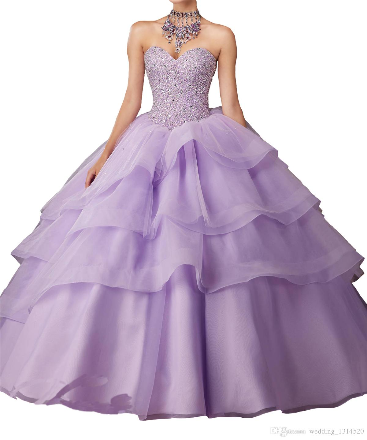 New Girls 15 16 Pageant Ball Gowns Women Quinceanera Dresses Sweetheart Rhinestone Organza Crystal Free Shipping factory outlet drop ship