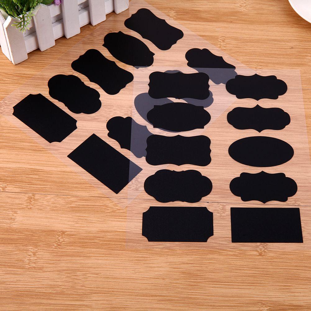 /Blackboard Sticker Craft Kitchen Jar Organizer Chalkboard Labels Wall Sticker For Kids Room Home Decor Supplies