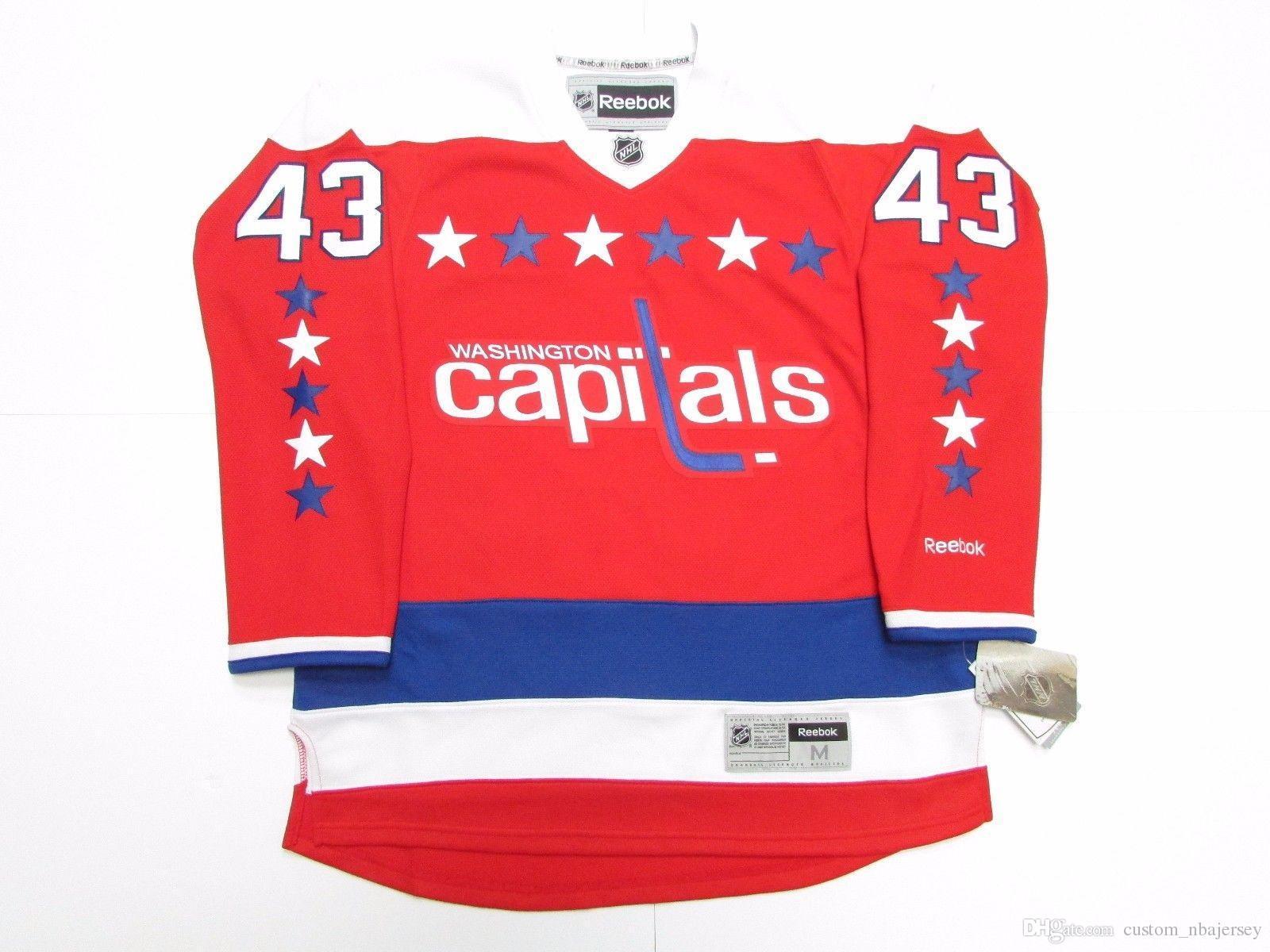 buy popular ea3d3 b9e79 Cheap custom TOM WILSON WASHINGTON CAPITALS NEW THIRD HOCKEY JERSEY stitch  add any number any name Mens Hockey Jersey XS-5XL