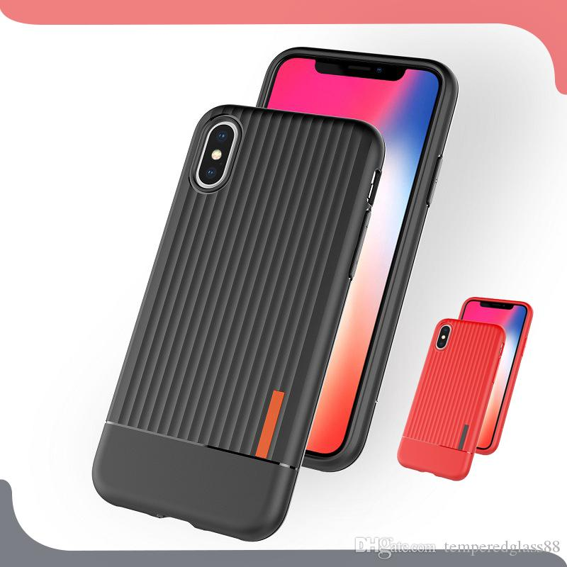 best service 2bddd 6115a Luxury Suitcase Trunk Case For iPhone X Xr Xs Max 6 6s 7 8 Plus Luggage  Stripes Pattern TPU Back Cover For Samsung s10 s10e s9 Capa Coque