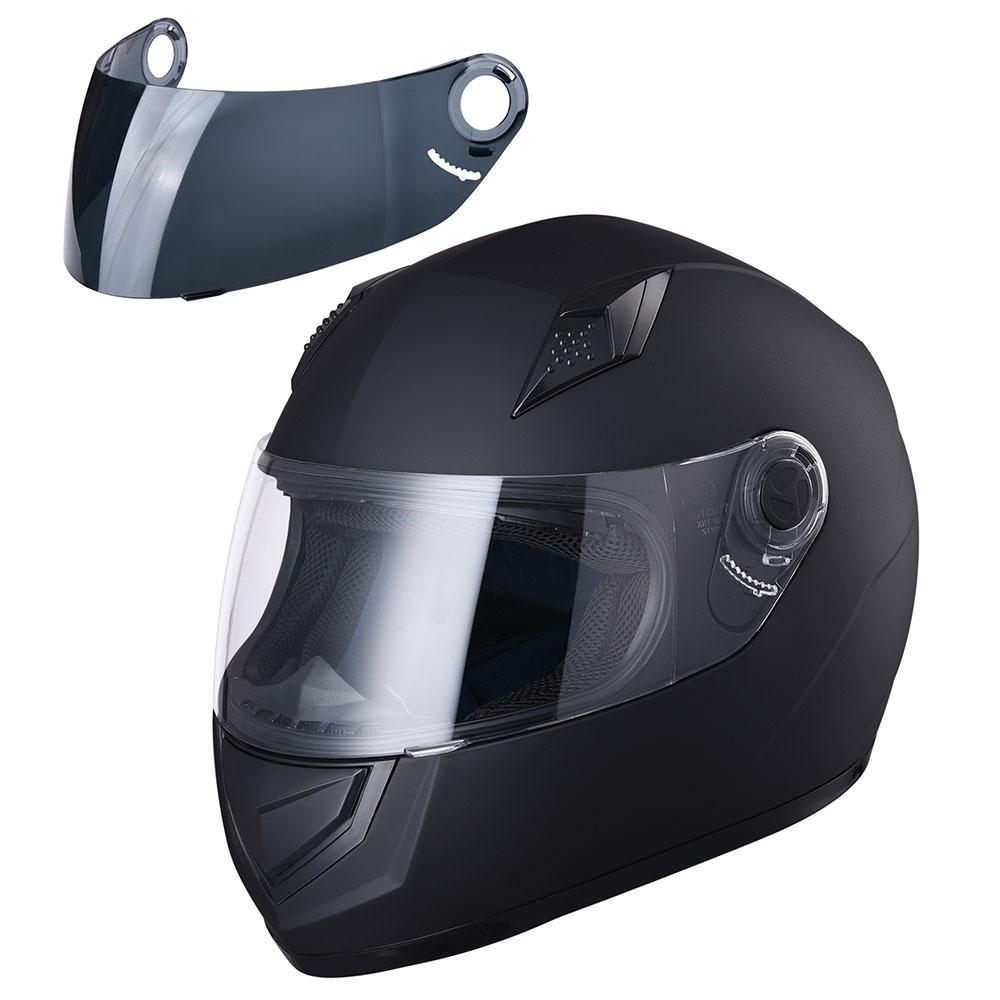 ECE Motorcycle Full Face Helmet Air Ventilation Lightweight ABS Shell Street Bike Motorbike Touring L