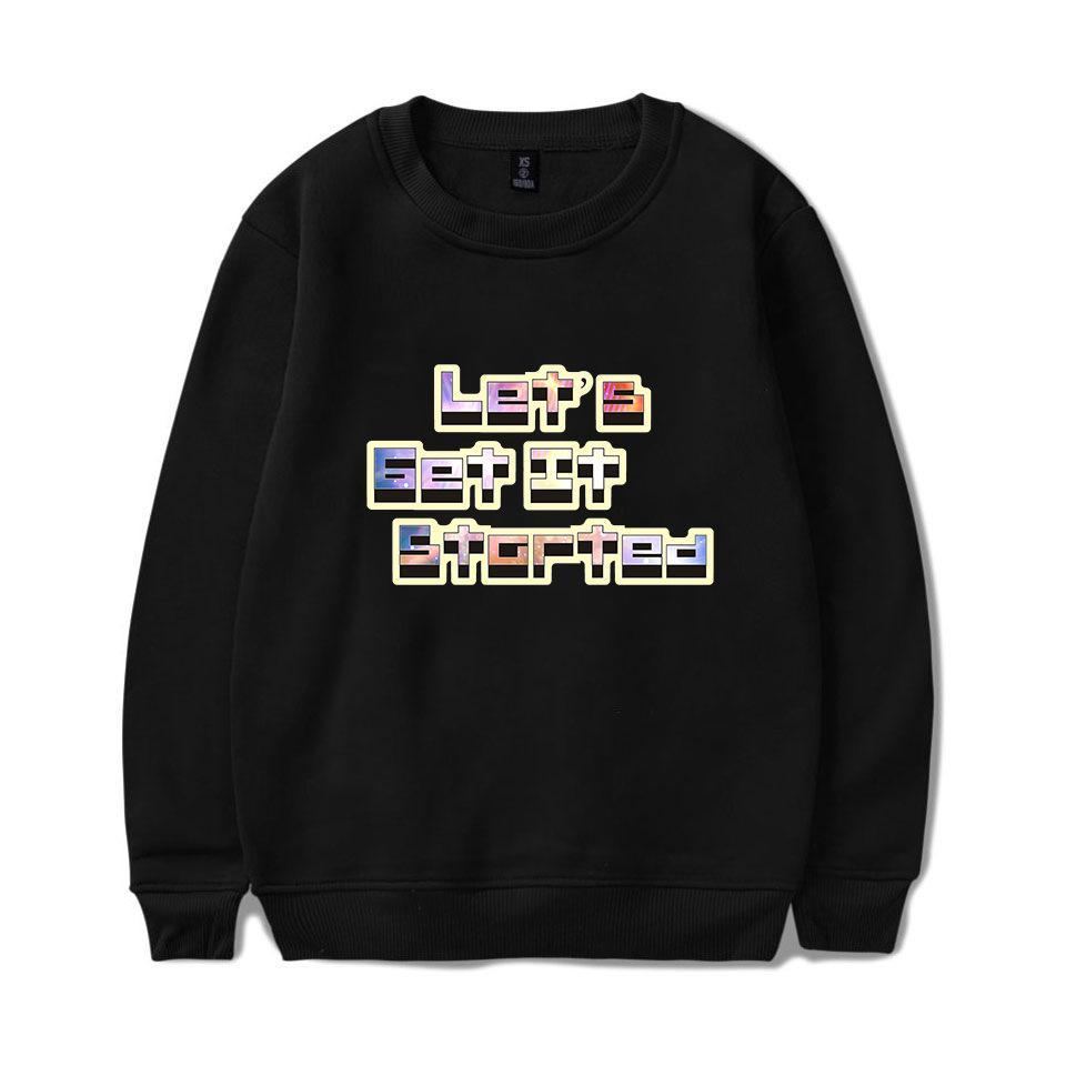 b239cb2bd Compre Marca De Moda O Pescoço Moletom Com Capuz Para Homens Roupas De  Adolescente Lets Get It Started Letras Pulôveres De Lã De Zengjundesigner