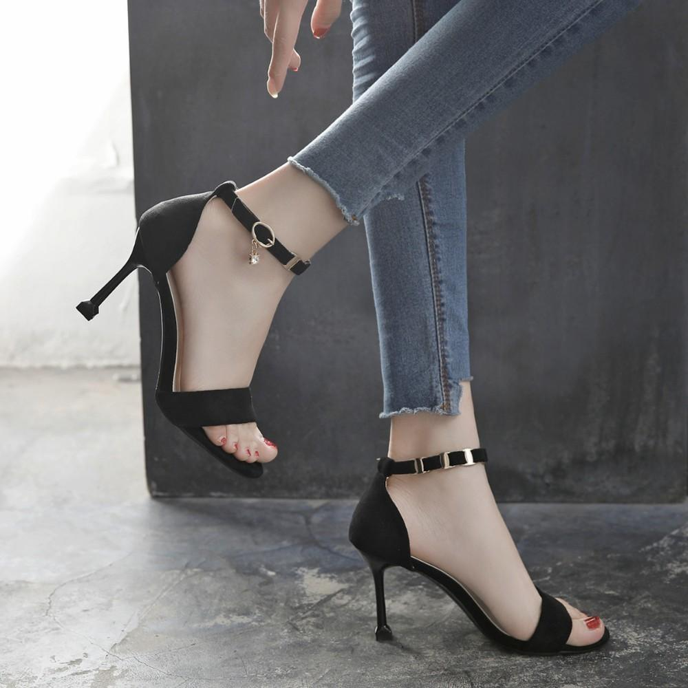 Chaussures D'été Bout Femmes Acheter Strap Cheville Sandales Talons 8n0OwkP