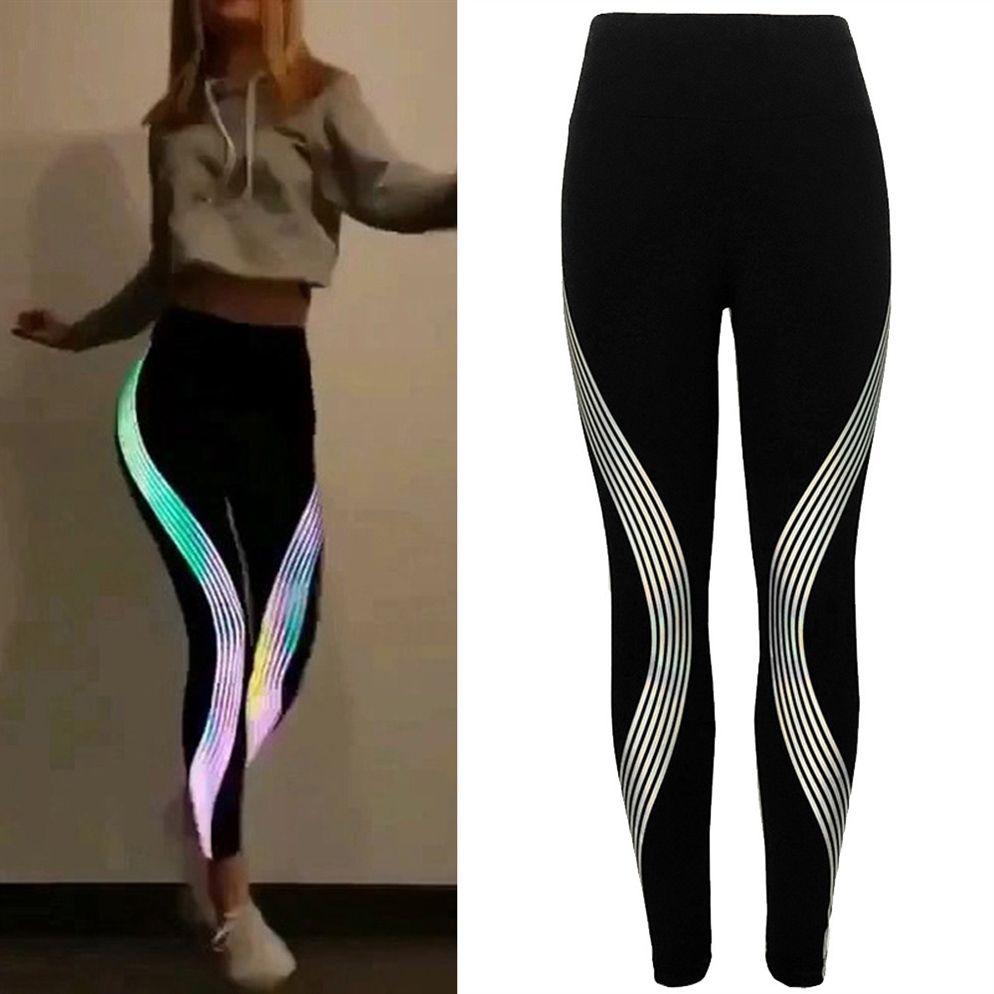 2e3b33a71482 2019 Womail Sport Leggings Women Neon Rainbow Leggings Fitness Sports Gym  Running Yoga Athletic Pants Energy Seamless All Season #35 #73688 From ...