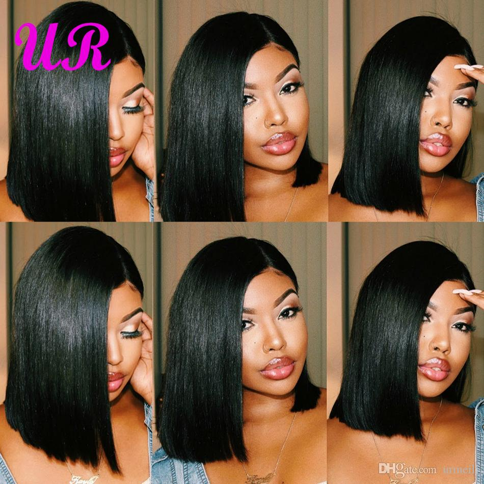 Short Lace Front Human Hair Wigs Brazilian Straight Bob Wigs Pre Plucked Hairline Natural Wigs For Black Women Alipearl Hair Wig Hair Extensions & Wigs Human Hair Lace Wigs