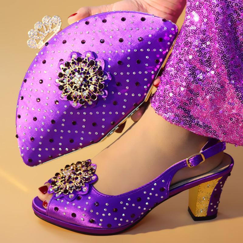 Africana Bombas Zapatos Fiestas Nigerianos Bolsos A Para Green D721 Mujeres Juego Y De Boda Últimos Sandalias Tacón Con Hebilla OkPuXZi