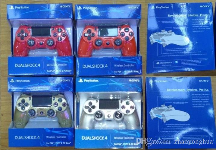 14 couleurs luetooth Contrôleur Sans fil PS4 pour PS4 Vibration Joystick Manette de jeu Gamepad PS4 pour Sony Play Station Avec boîte Emballage