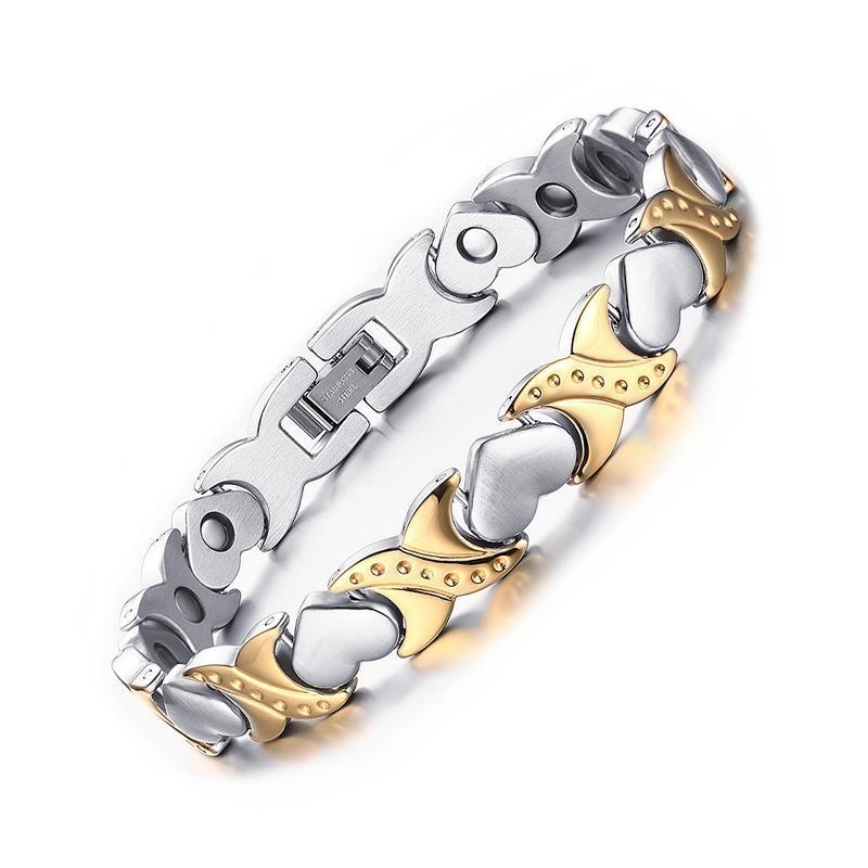 meilleur prix Vente de liquidation 2019 recherche de véritables Hot sale healthy care bracelets & bangles for women jewelry energy magnetic  bracelet for women heart hand chain free shippin