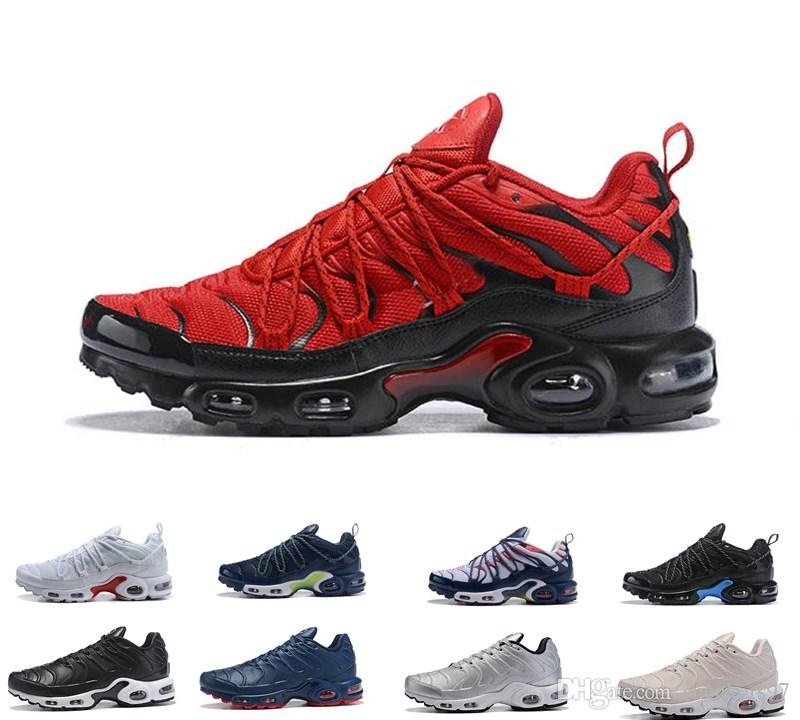 official photos b5238 ade04 2019 New champagnepapi Mercurial Plus Tn Ultra SE Black Red Orange outdoor  Shoes Plus TN shoe Women Mens Trainers outdoor Sneakers 40-46
