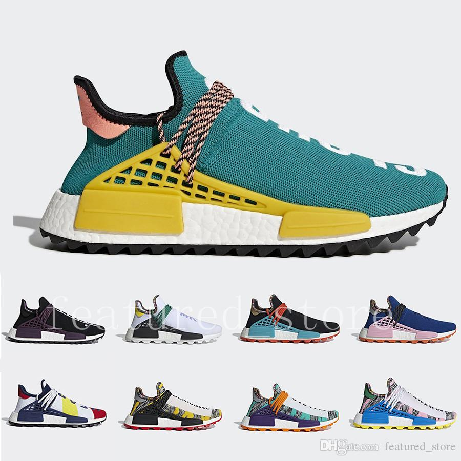 New Arrival Sun Glow Inspiratio Footwear Human Race White Core Black Clear Sky Powder Blue Men and women Running Shoes Sports Sneakers