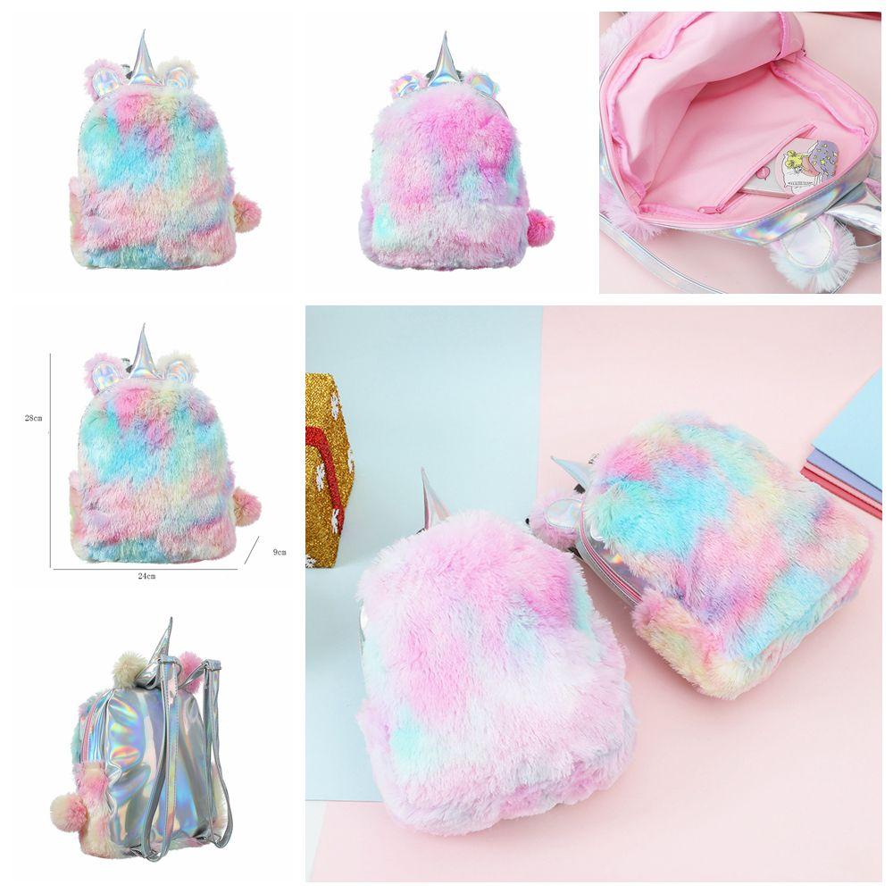 Kids Unicorn Backpacks Plush Cartoon Bag Kindergarten Baby Girls Boys  School Bags Children Shoulders Bags School Fashion Bag FFA1350 Stylish Girl  Bags ... b6268a4f665ff