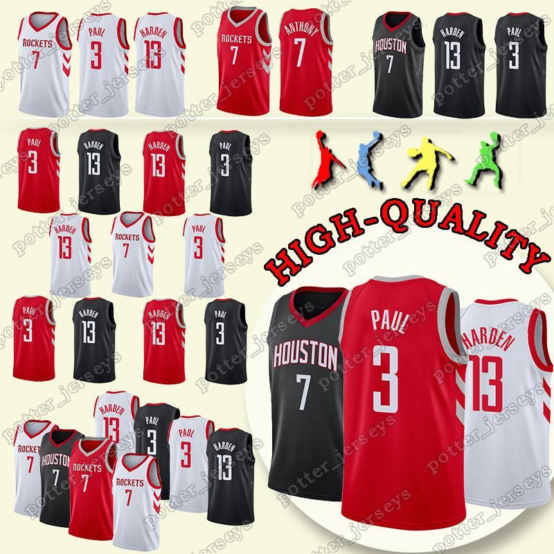 111365aa6 2019 2019 Houston Chris 3 Paul Jersey 13 Rockets James Harden Carmelo 7  Anthony Jerseys Youth Adult Shirt Jerseys From Potter jerseys