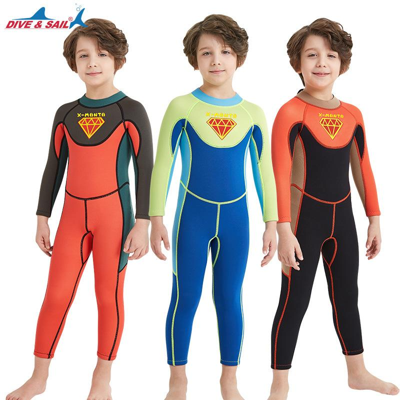 faa4d20639 2019 Wetsuit Dive Amp Sail Scuba Kids Boys One Piece 2.5mm Wetsuit Skin Dive  Swimming Suit For Winter Kids Boys Swimsuit Swimwear From Sports1234