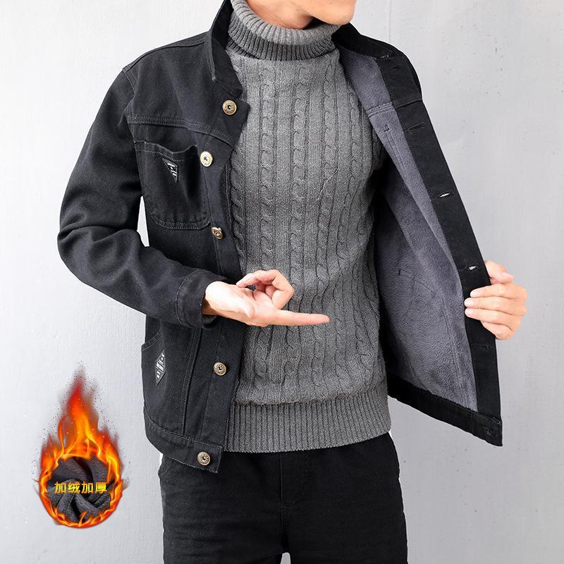 e6a0d18b0 Pop2019 Down Cowboy Clothes-pin Korean Version Cool Time Black Joker Loose  Coat Slim Jacket Men s Wear Tide And