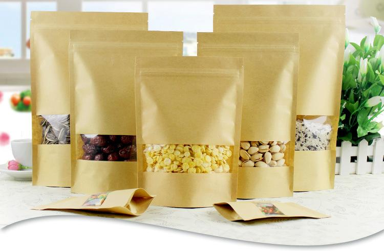 Brown Kraft Paper Gift Bags Wedding Candy Packaging Recyclable Food Bread Shopping Boutique Party Bags