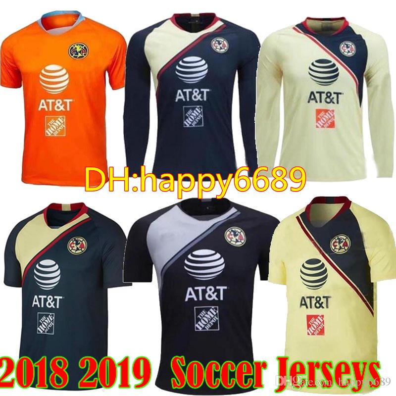 c1eea632f 2019 2018 2019 Mexico Club America Soccer Jersey 18 19 C.BLANCO D.BENEDETTO  R.SAMBUEZA Long Sleeve Soccer Uniforms From Happy6689, $17.26 | DHgate.Com