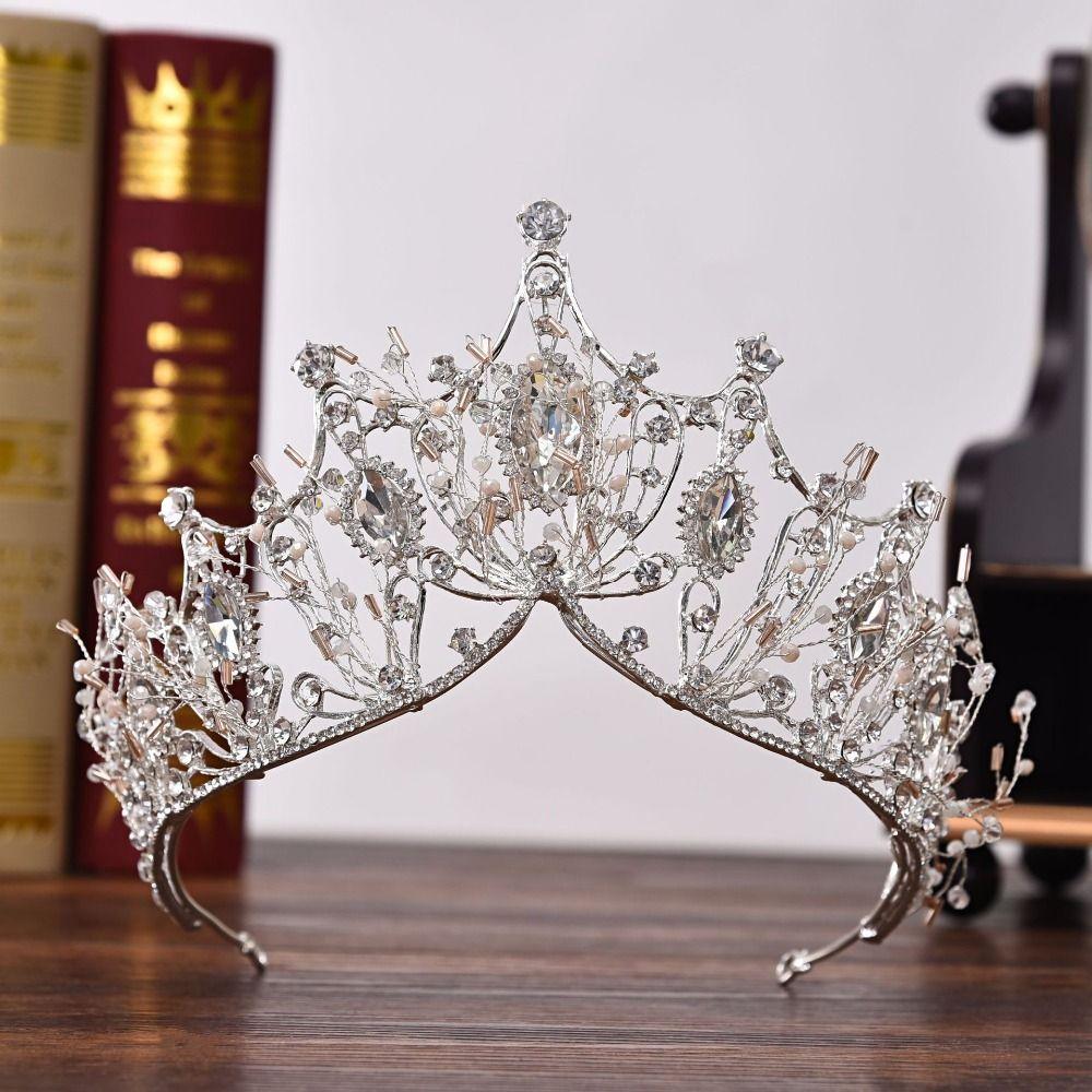 LUXURY Baroque Wedding Bridal Tiara Vintage Queen Crystal Crown Headband NEW