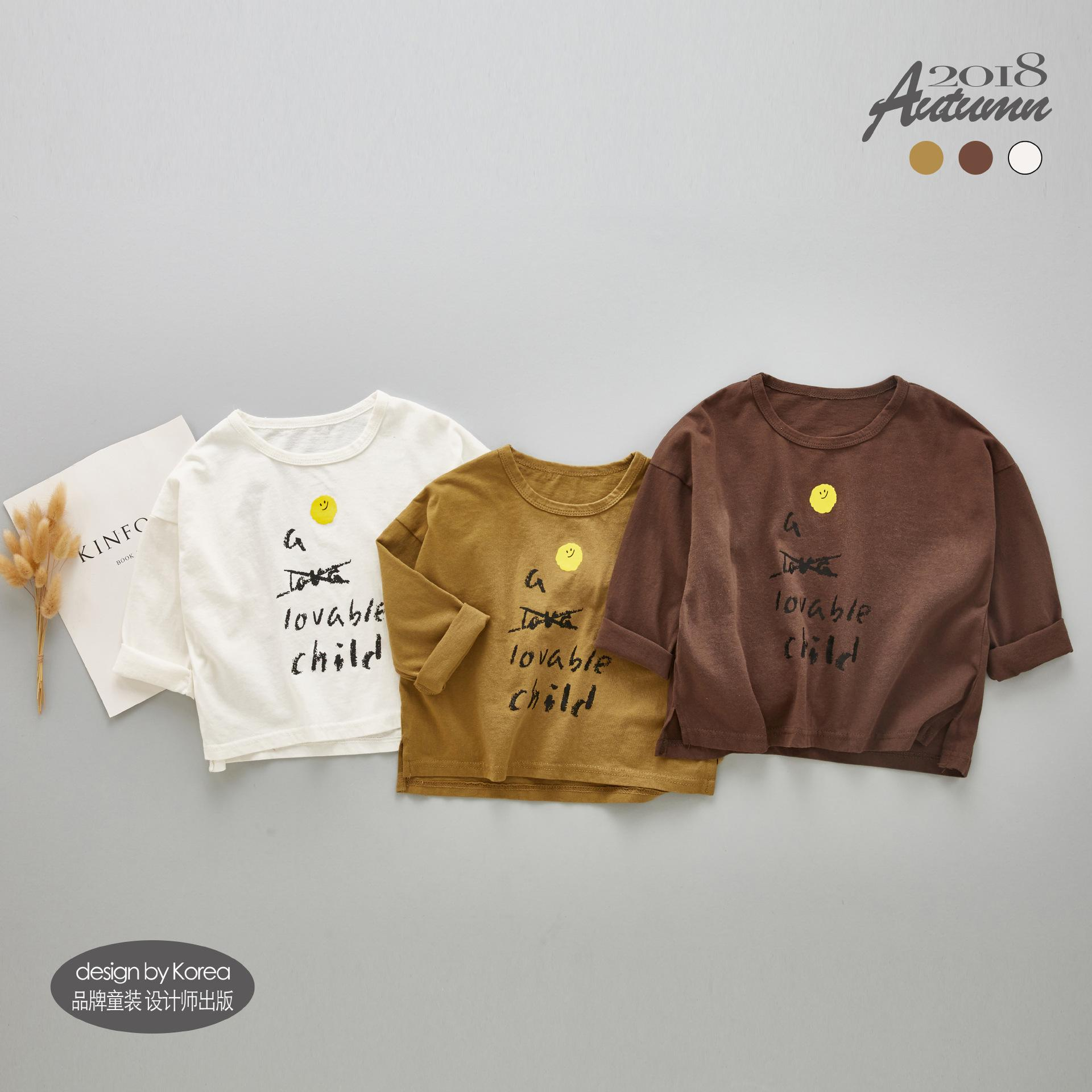 03705f61 2019 Korea Style Girls T Shirt Toddler Boys Tops Tees Long Sleeve T Shirts  Children Blouse T Shirts 100% Cotton Kids Autumn Clothes From Textgoods08,  ...