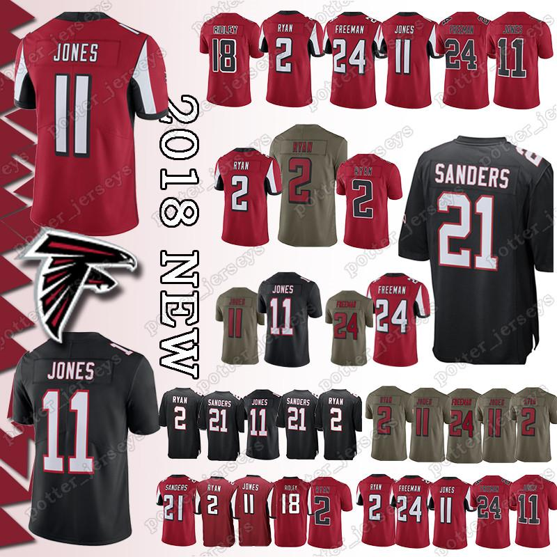 ff890055 Cheap sales Atlanta Falcon Jerseys 11 Julio Jones 2 Matt Ryan 18 Ridley 21  Deion Sanders 24 Devonta Freeman Jersey promotion