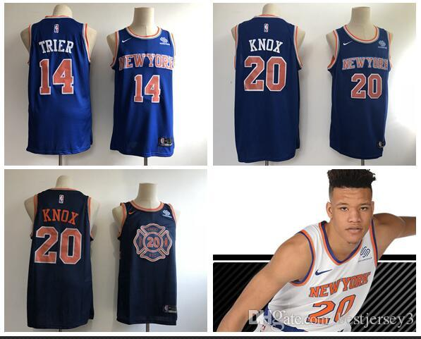e99622995 Men S New York Allonzo Knicks 14 Trier 20 Knox Fanatics Branded Blue Fast  Break Replica Jersey Icon Edition Graphic Tees For Men Vintage Shirts From  ...