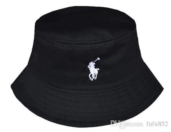 Hot Sale Korean Fashion Design Black White Color Letter Bucket Caps Summer Beach Sunbonnet For Women Men Casual Fishing Hat Cap Unisex Men's Bucket Hats