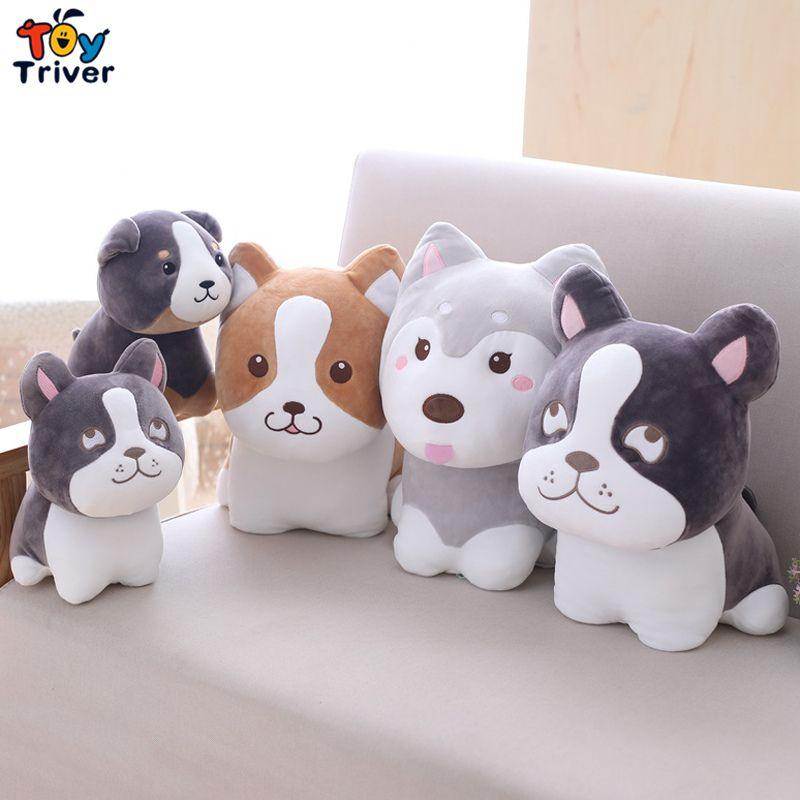 2019 Husky Bulldog Foxhound Corgi Dog Puppy Plush Toy Stuffed Dogs