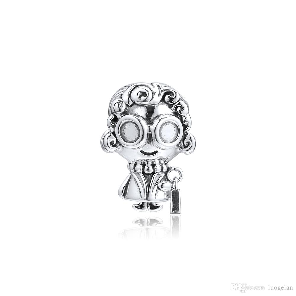 2019 Mother's Day 925 Sterling Silver Jewelry Mrs. Wise Charm Beads Fits Pandora Bracelets Necklace For Women DIY Making