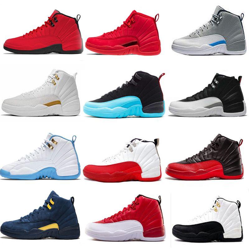 a95d8dfa58e003 NEW 12 12s Mens Basketball Shoes Blue Gym Red Taxi Black White ...