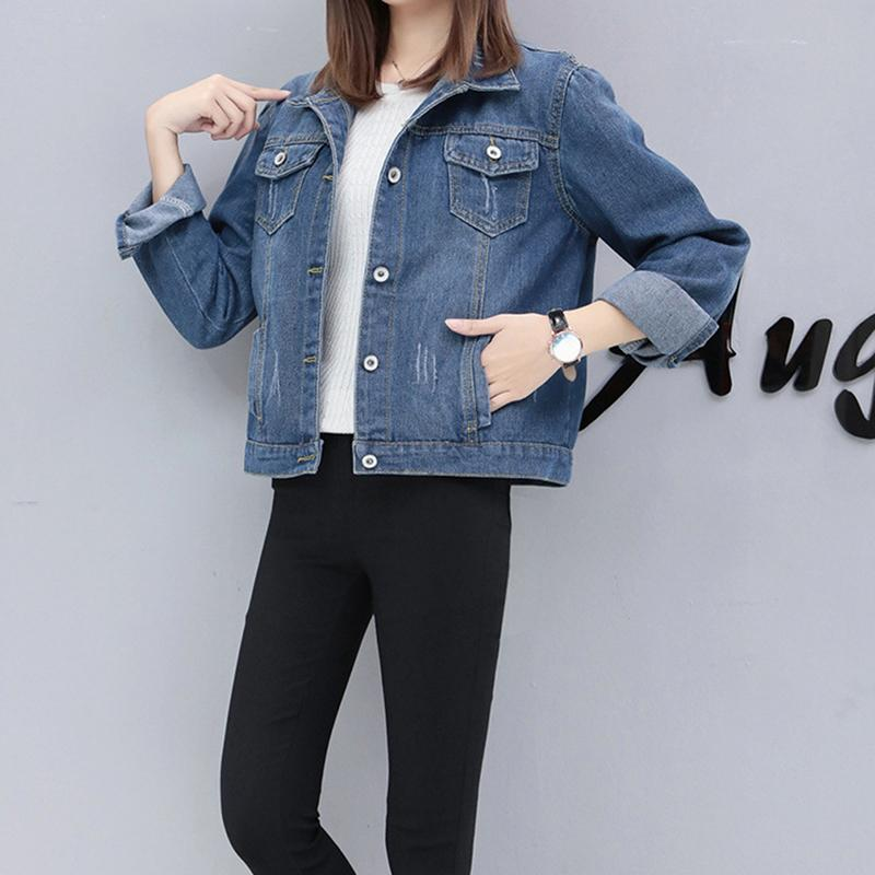 f76b950bd9f Autumn And Winter Women Denim Jacket 2019 Vintage Harajuku Oversize Loose  Female Jeans Coat Solid Slim Chaquetas Mujer Online with  47.34 Piece on  Jamie08 s ...