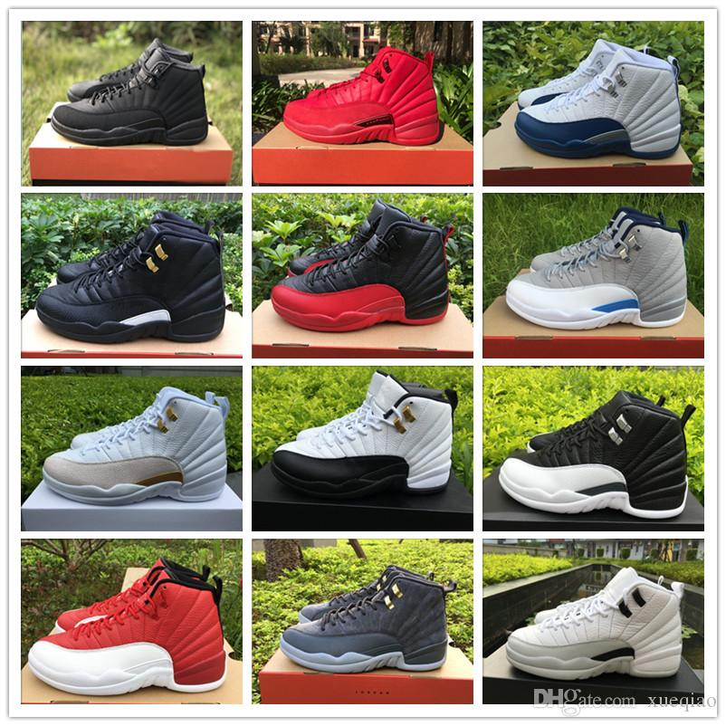 136b6d8151c Mens Basketball Shoes 12 12s OVO White Gym Red WNTR Men Women Friday Gym  Taxi Blue Suede Flu Game CNY Sports Shoes Sneakers