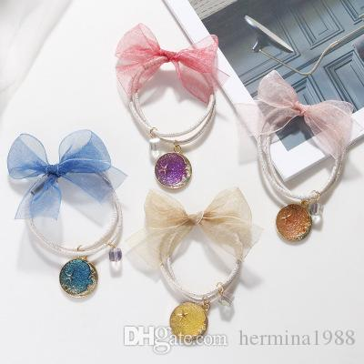 Girls Elastic Hair Bands Princess Star Ponytail Holder Gum For Hair Headband Rubber Band Kids Hair Accessories
